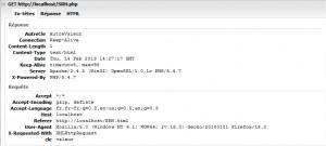 Suivi d'entêtes HTTP, Requête et Réponse