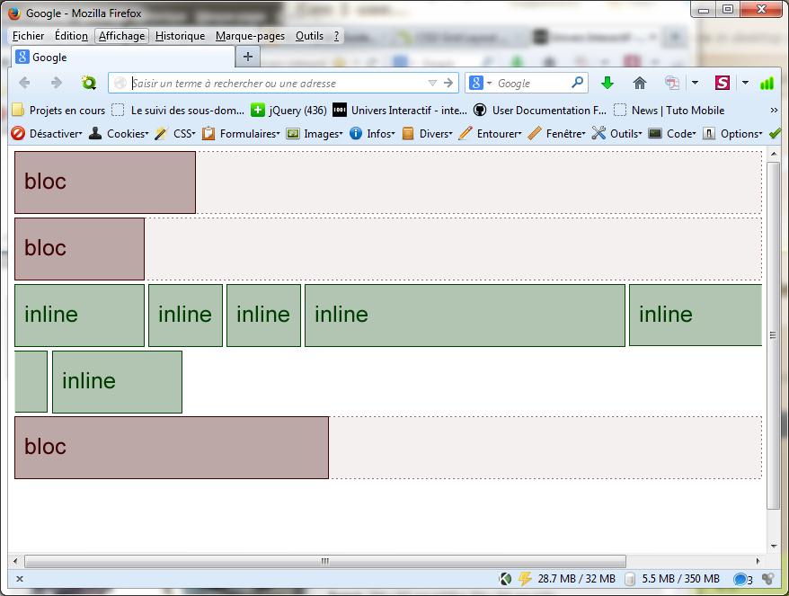 Les bases du positionnement en css puce et m dia for Css inline table